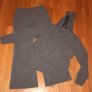 Gray Sweatsuit.  New York & Company.  Size Medium